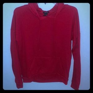 Rue 21 red thin hoodie Small